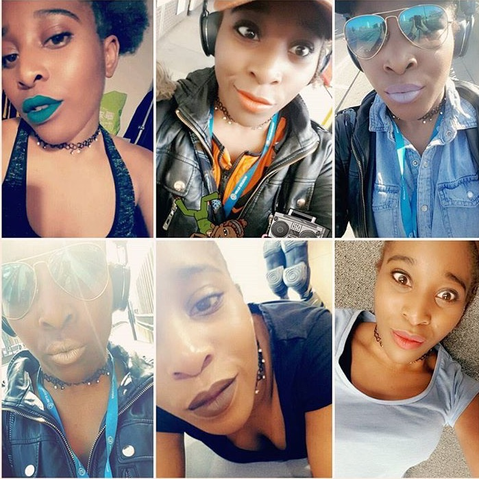 Shekinah McFarlane's instagram post of week of lipsticks!